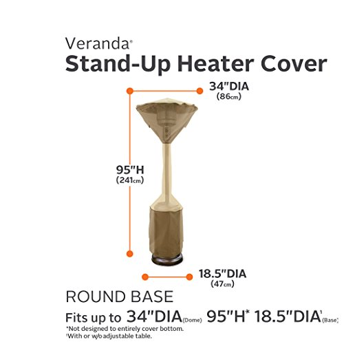 Classic-Accessories-Veranda-Standup-Patio-Heater-Cover-Pebble-Fits-Heaters-With-up-to-34-Dome-and-185-Base