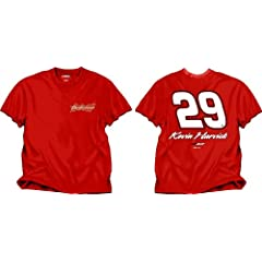 NASCAR Richard Childress Racing Kevin Harvick #29 Budweiser Red Fan Up T-Shirt by Checkered Flag