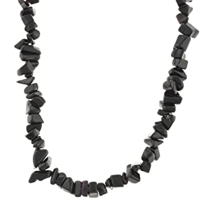 Genuine Onyx Chip Necklace, 40""