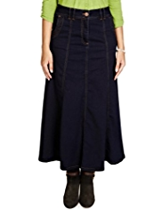 Per Una Panelled Clover Denim Skirt
