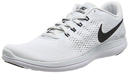 Nike Herren Flex 2016 Run Laufschuhe, Grau (Pure Platinum/Black-White), 43 EU