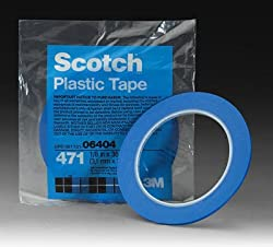 "1/8"" 3M Scotch Blue Fine Line Plastic Striping Tape-Car"