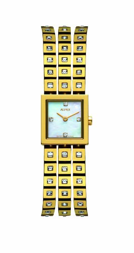 Alfex - 5661 _ 756 - Ladies Watch - Analogue Quartz - Mother of Pearl Dial Gold Plated Steel Bracelet