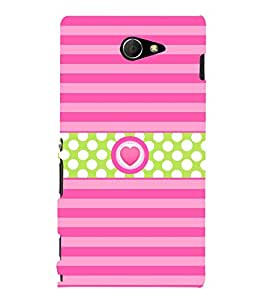 Heart Love Girly 3D Hard Polycarbonate Designer Back Case Cover for Sony Xperia M2 Dual D2302 :: Sony Xperia M2