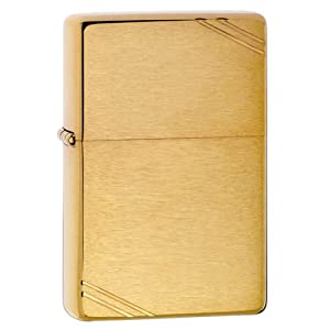 Zippo Brushed Brass Vintage Lighter