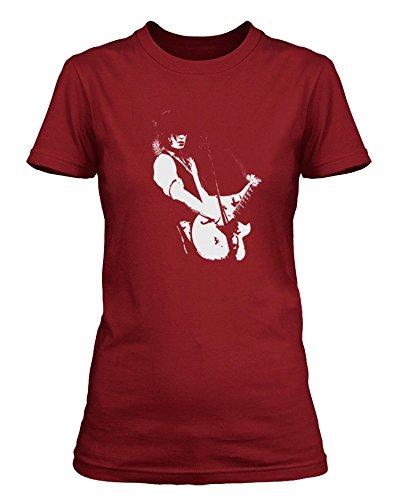 """Izzy Stradlin Stradlin modello """"Izzy"""", Guns N Roses-Maglietta a maniche corte, da donna Kremlin Red XXL"""