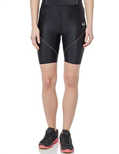 Ultrasport Rainbow Pantaloni Compressivi da Corsa/Pantaloni Sportivi Corti, Donna, Nero, S
