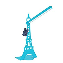 LED Reading Light, Zovie - Book Light, Eiffel Tower Design, Flexible Neck Position, Touch-sensitive Controller with Eye Care Led Lamp, Benefits for Eye Health. (Blue)