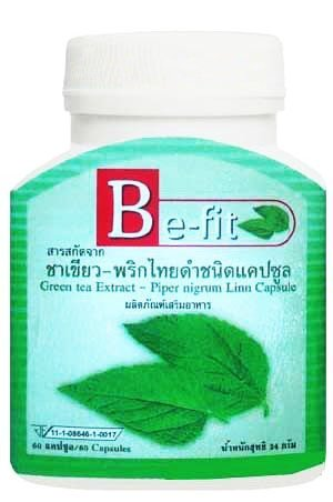 Be-Fit Green Tea + Black Pepper + Garcinia Weight Loss Slimming Fit Diet