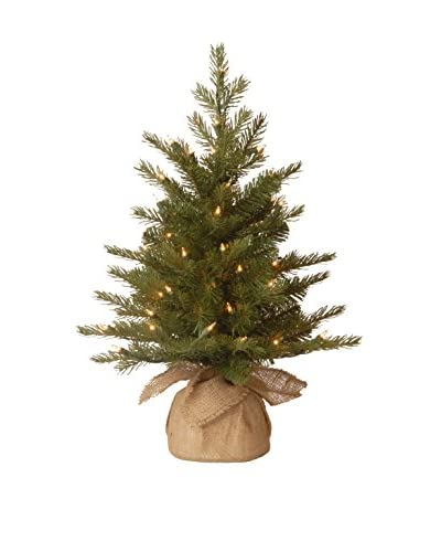 """National Tree Company 2' """"Feel Real"""" Nordic Spruce Small Tree in Burlap"""