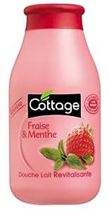 Cottage - Douche Lait Revitalisante - Fraise et Menthe - 250 ml - Lot de 3