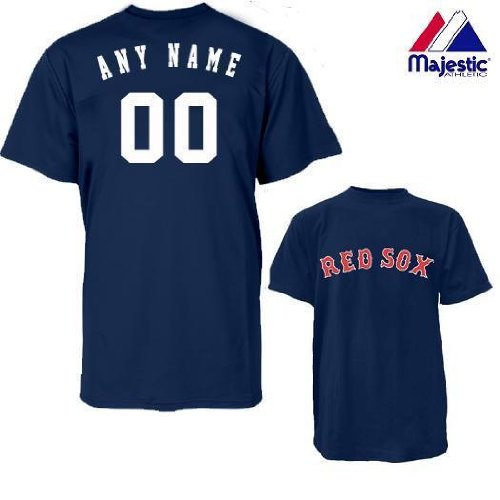 Boston Red Sox Personalized Custom (Add Name & Number) ADULT XL 100% Cotton T-Shirt Replica Major League Baseball Jersey at Amazon.com