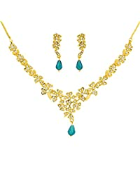Jpearls Blue Stone Necklace Set