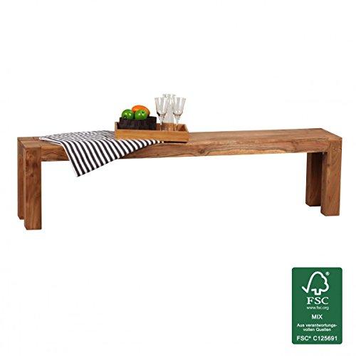 FineBuy-Esszimmer-Sitzbank-Massiv-Holz-Akazie-180-x-45-x-35-cm-Design-Holz-Bank-Natur-Produkt-Kchenbank-Landhaus-Stil-dunkel-braun-Bank-4-Sitzer-fr-innen-ohne-Rcken-Lehne-Echt-Holz-unbehandelt