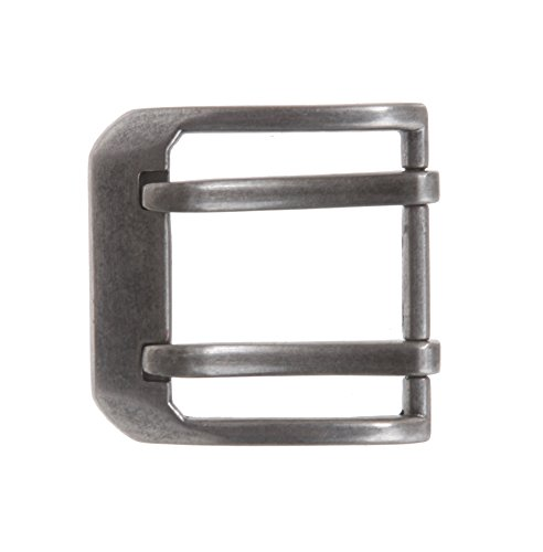 """1 1/2"""" (38 mm) Nickel Free Double Prong Square Belt Buckle Color: Antique Silver"""