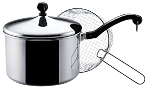Farberware Classic Stainless Steel 4-Quart Deep Fryer with Fry Basket by Farberware