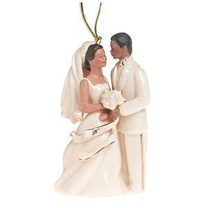 Lenox 2004 African-American Bride and Groom Porcelain Ornament