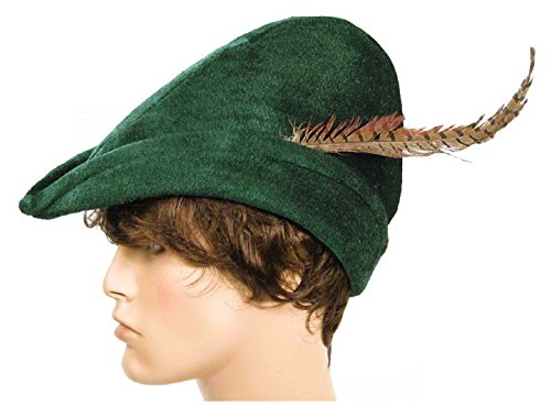 Robin Hood / Peter Pan Hat with Feather Green (One Size) (Tinkerbell And Peter Pan Costumes For Adults)