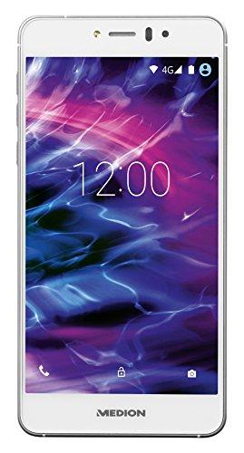 Medion X5020 Smartphone (12,7 cm (5 Zoll) Full-HD Touchscreen-Display, 13 Megapixel Kamera, Octa-Core-Prozessor, Dual-SIM, 32GB interner Speicher, Android Lollipop 5.1) weiß