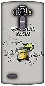 The Racoon Lean Gray Tequila Boom hard plastic printed back case / cover for LG G4