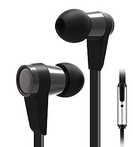 deleyCON SOUNDSTERS S6-M - Headset Ohrhörer - In-Ear Konzept-Headset mit Mikrofon und Steuerungs-Funktion zum Telefonieren / Musik hören - Schwarz