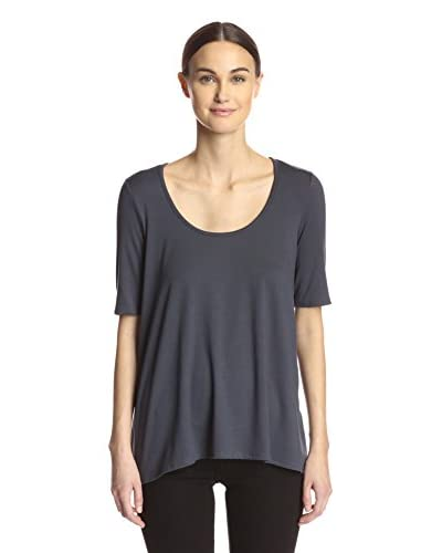 Three Dots Women's Relaxed High-Low Tee