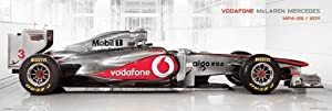 "McLaren Mercedes - Door Poster (Formula 1 Race Car - MP4-26 / 2011) (Size: 62"" x 21"")"