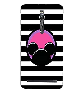 PrintDhaba Mickey Impression D-2001 Back Case Cover for ASUS ZENFONE 2 (Multi-Coloured)