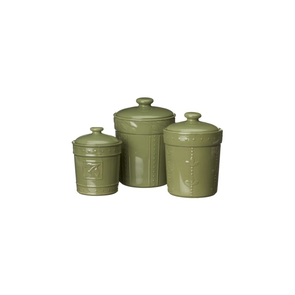 Signature Housewares 3 Piece Stoneware Kitchen Canister