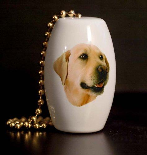 Yellow Labrador Porcelain Fan / Light Pull