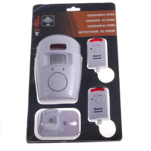 105dB Portable Wireless Security Alarm System with IR Motion Detector Plus Two Arm/Disarm Remote Keychains - Great for Vacations! (FREE SHIPPING)