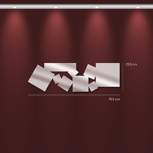 Tm miroir carres design allonges 23 5 x 75 5 x 3 cm for Miroir allonge