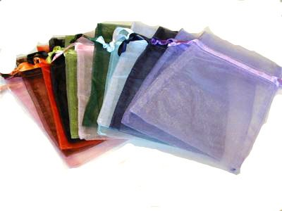100pc Organza Mixed Colors Jewelry Pouch Bags Display 5x7 Inches