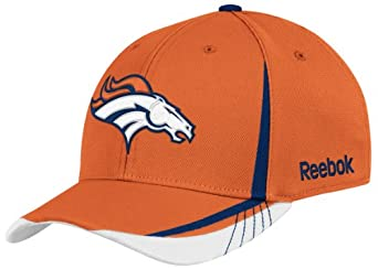 NFL Denver Broncos Sideline Flex-Fit Draft Hat, Orange, Large/X-Large