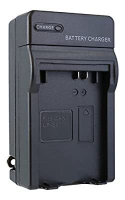 Canon LP-E5 Compact Battery Charger by TechFuel replaces LC-E5 charger for Canon Rebel XS, T1i, XSi, EOS 450D, 500D, 1000D cameras