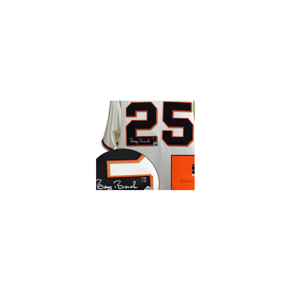 Barry Bonds San Francisco Giants Autographed Authentic Home Jersey Sports & Outdoors