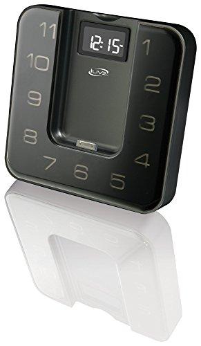 iLive ICP391B Digital Clock with FM Radio, Alarm and iPod/iPhone Dock with Remote Control