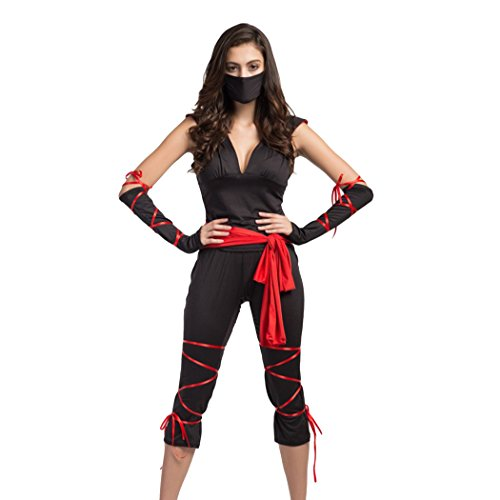 Ladies Epidemic Prevention Worker/ Ninja Assassin Halloween Fancy Dress Costume