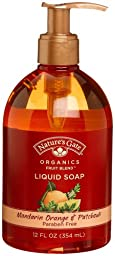 Nature\'s Gate Organics Fruit Blend Liquid Hand Soap, Mandarin Orange & Patchouli, 12-Ounce Bottles (Pack of 3)