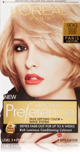 L'Oreal Preference Paris Couture Hair Color, 9Dg Delicate Golden Blonde