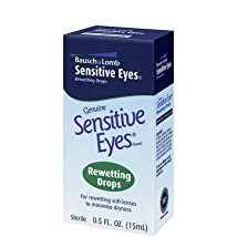 Bausch & Lomb Sensitive Eyes Rewetting Drops for Soft Contact Lenses-0.5 oz (Pack of 5)