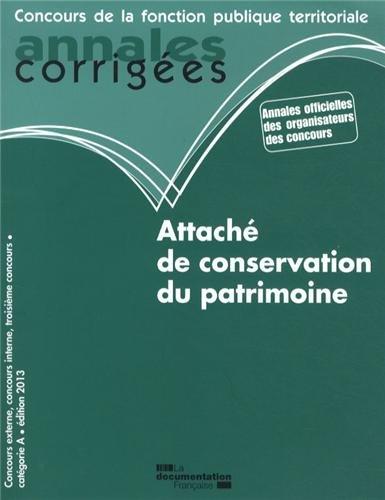 Attaché de conservation du patrimoine 2013