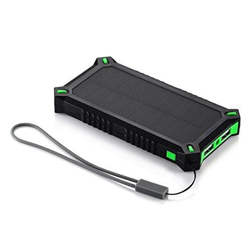 (パワーアド)Poweradd Apollo3 ソーラーチャージャー 8000mAhモバイルバッテリー 2USBポート 太陽光で充電 ソーラーパネル バックアップバッテリーパック iPhone6s / iPhone6 / iPhone5 / Xperia / Nexus / iPod / iPad等対応