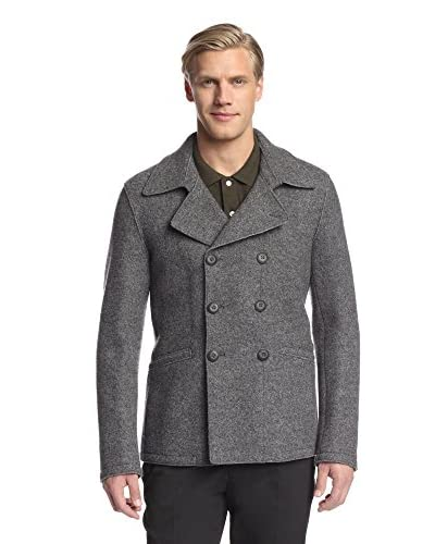 Armani Collezioni Men's Double-Breasted Peacoat