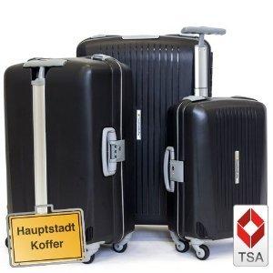 3er Kofferset Hartschale Trolley schwarz-matt
