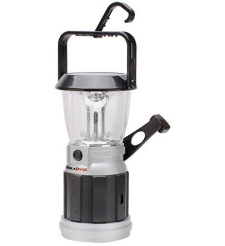 Soladyne 7451 Solar Lantern, Black/Silver, 5.75 X 5 X 10.5-Inch front-972689