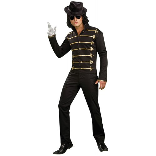 Michael Jackson Black Military Jacket Costume - Medium - Chest Size 40-42