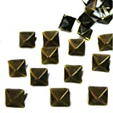 100 Pcs. 8.00 Mm. Brass Glam Pyramid Studs Nailheads