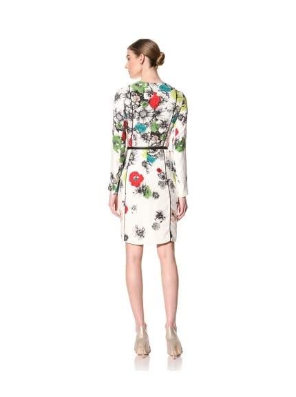 Doo.Ri Women's Long Sleeve Floral Print Dress with Belt