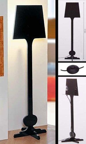 Silhouetten Standleuchte Stehlampe Lampe, schwarz ~ ohne Leuchtmittel